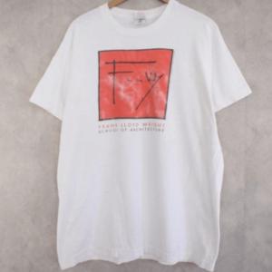 '90年代の古着、FRANK LLOYD WRIGHT USA製 『Frrwy』プリントTシャツ