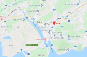 藤井風の実家兼喫茶店『未茶夢』の地図
