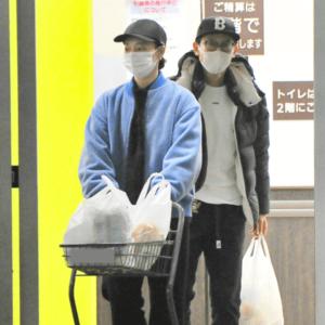 坂本昌行と朝海ひかる「スーパー買い物」