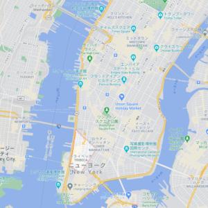 マンハッタン・トライベッカの地図