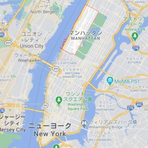 マンハッタン「アッパーウエストサイド」の地図