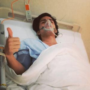 池上享平ケビンの手術後、入院中の様子