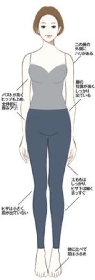 骨格診断ストレートタイプ