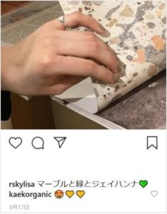 貴田理沙の黄色いハートの絵文字のインスタ投稿