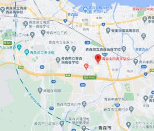 青森山田高等学校の地図