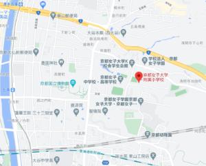 京都女子大学附属小学校の地図
