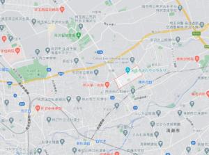 角川武蔵野ミュージアムの地図