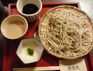 『唐変木』のくるみ蕎麦