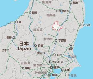 栃木県那須塩原市の地図