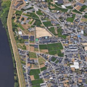 大分市立東陽中学校の航空写真