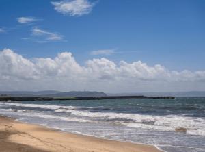 富津海水浴場の海岸線