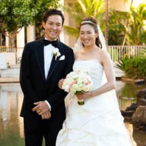 結婚式の杉山愛と旦那の杉山走