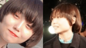 Adoの顔バレ画像①と③の比較