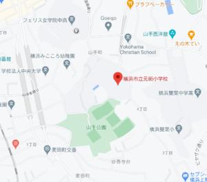 横浜市立元街小学校の地図
