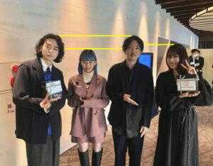 菅田将暉と有村架純とatagiとPORINの身長比較画像