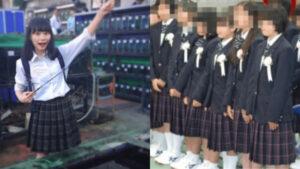 制服姿の南沙良と川﨑市立麻生中学校の制服比較