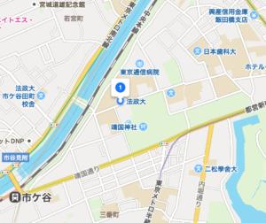 法政大学の市ヶ谷キャンパス地図