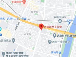 武庫川女子大の地図