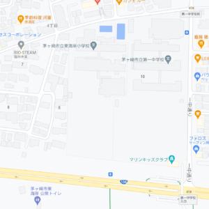 茅ヶ崎市立東海岸小学校と茅ヶ崎市立第一中学校の地図