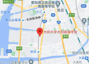 佐藤景瑚の大同大学大同高等学校の地図