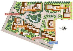 広尾ガーデンフォレストの建物配置図