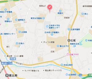 広尾ガーデンフォレストの地図