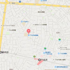 下北沢成徳高等学校の地図