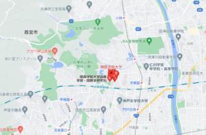 関西学院大学の地図