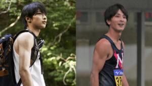 横浜流星と橋岡優輝の二の腕比較