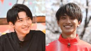 横浜流星と橋岡優輝の笑顔比較