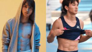 横浜流星と橋岡優輝の腹筋比較