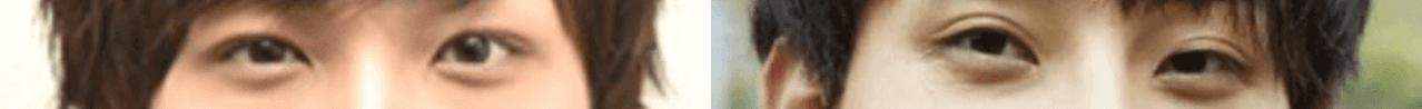 横浜流星と橋岡優輝の目元比較