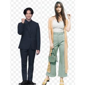 知念侑李とトラウデン直美の身長比較