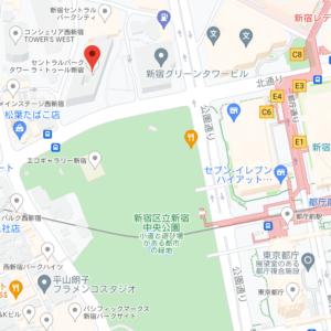 セントラルパークタワー ラ・トゥール新宿の地図