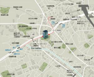 ラ・トゥール青葉台の地図