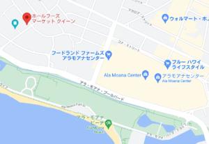 ホールフーズマーケット・クイーンの地図