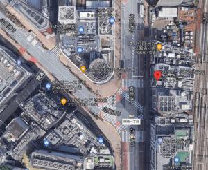カラオケパセラ渋谷店の航空地図