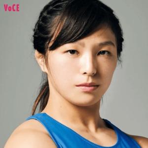 変身メイク前の川井友香子
