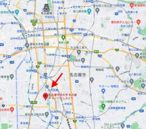 名古屋学院大学の名古屋市熱田区の地図