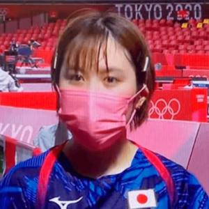 東京五輪の初戦後の初取材の平野美宇