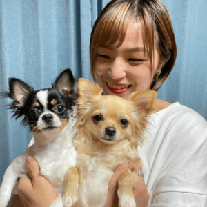 川井友香子と愛犬