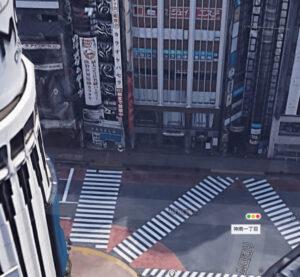 カラオケパセラ渋谷店の航空地図近景